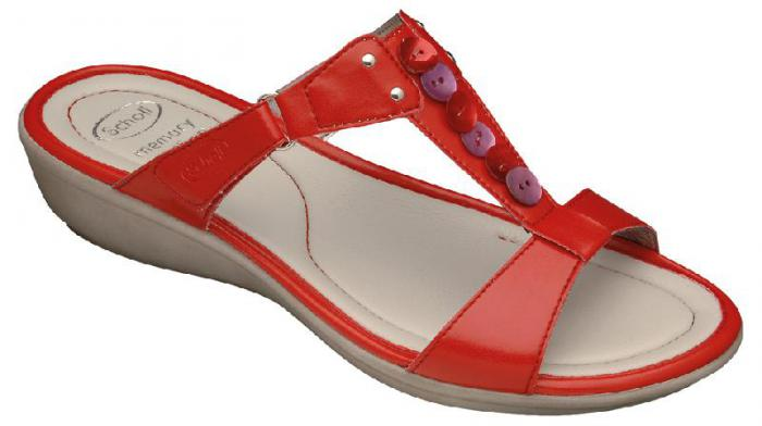Scholl Memory Cushion Tredes Sandals Red